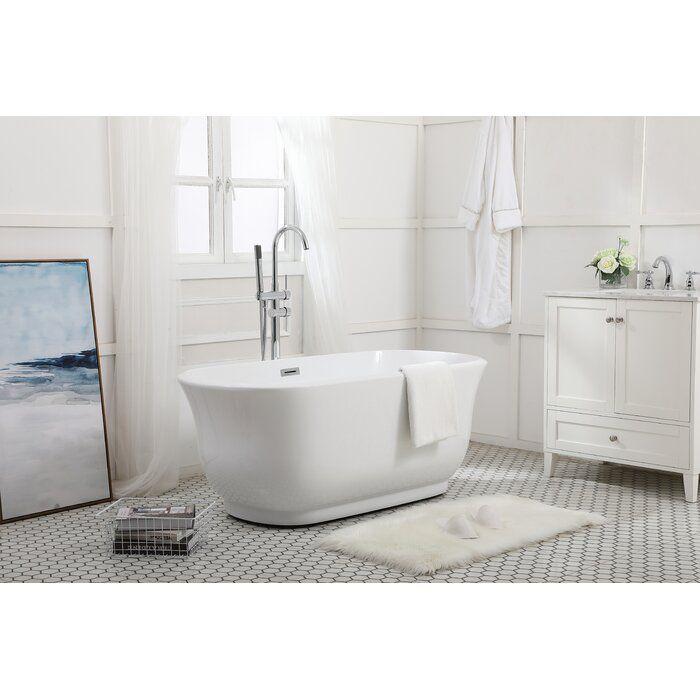 Coralie 67 X 31 Freestanding Soaking Acrylic Bathtub Soaking Bathtubs Bathroom Vanities For Sale Contemporary Bathroom Vanity