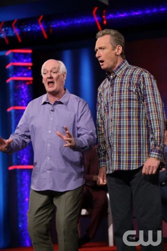 """""""Whose Line Is It Anyway?""""  -- Kyle Richards  -- Image WL103A_0608 -- Pictured (L-R):  Colin Mochrie and Ryan Stiles. Photo: Patrick Wymore /The CW -- © 2013 The CW Network, LLC. All Rights Reserved"""