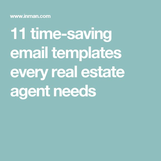 11 time-saving email templates every real estate agent needs