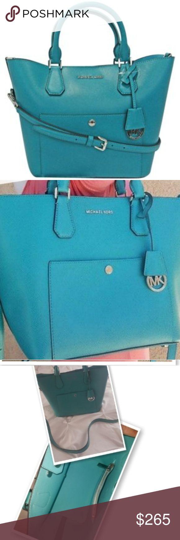 Michael Kors 👜No Trades Selling Towards A New Set 👜Authentic EUC 👜Large Greenwich 👜Teal/Aqua Color 👜No Dustbag Michael Kors Bags Satchels