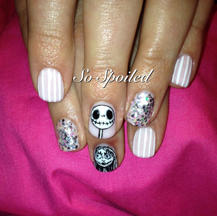 175 best spring summer nail art ideas 2016 images on pinterest bio sculpture gel nail art design halloween 2013 nail art in the nightmare before prinsesfo Choice Image