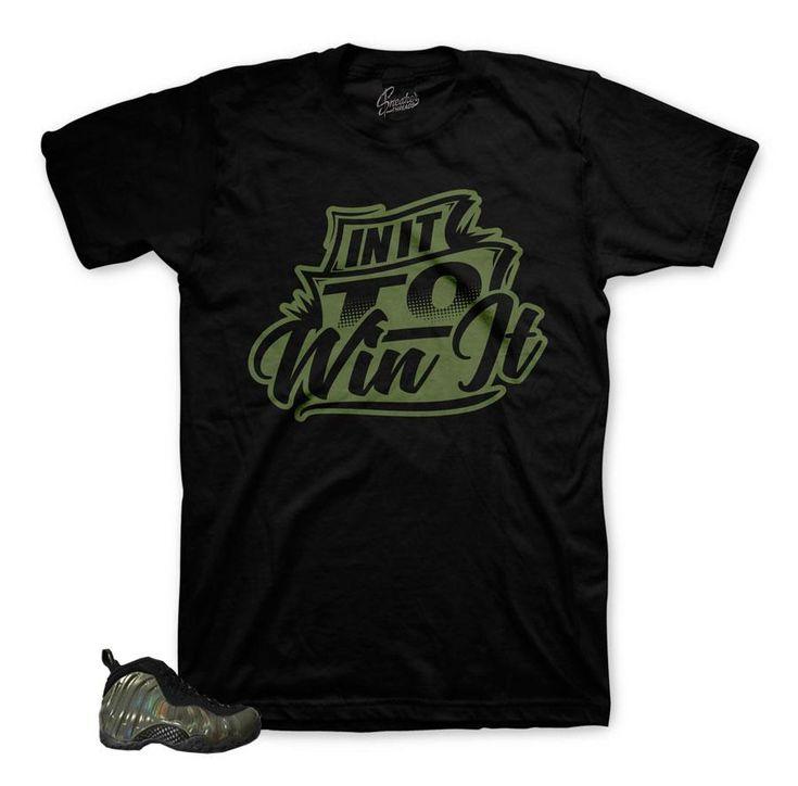 Foamposite Legion Green Shirt - In It To Win It - Black