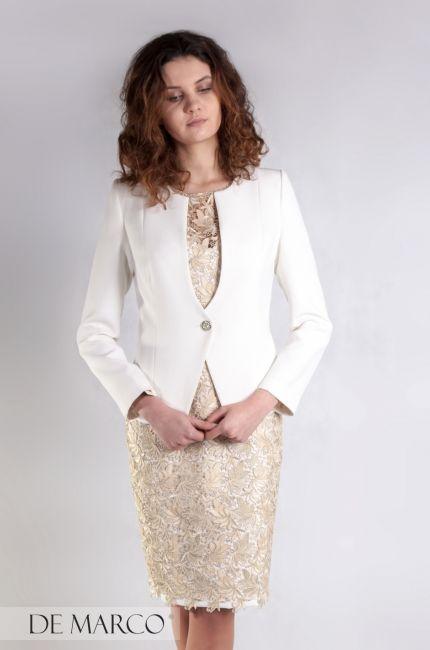 Najmodniejszy, ekskluzywny zestaw, żakiet z sukienką dla mamy wesele. Gold dress z De Marco.pl http://www.sklep.demarco.pl/pl/sukienka-jadwiga-ii-z-zakietem?utm_content=buffer39b6c&utm_medium=social&utm_source=pinterest.com&utm_campaign=buffer