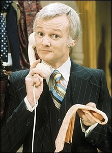 """John Inman as Mr. Humphries in BBC's """"Are You Being Served."""" Love him :)"""