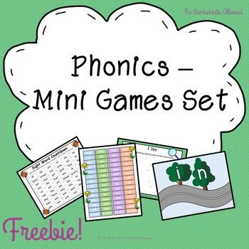 FREEBIE! Try before you buy- a selection of phonics games, adapted from my paid products.