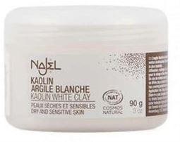 Najel Σκόνη Λευκής Αργίλου Καολίνα (White Clay Powder) 90gr    Η λευκή άργιλος καολίναείναι εξαιρετικά λεπτή, με ουδέτερο pH και ισχυρές καθαριστικές ιδιότητες.  Καταπραΰνει το δέρμα, το καθαρίζει απαλά ενώ παράλληλα παρέχει αξεπέραστη απαλότητα. Χάρη στην ιδιότητά της να φωτίζει, χαρίζει άμεσα λάμψη ακόμα και στο πιο θαμπό δέρμα.  Ο άργιλος έχει την ιδιότητα να απορροφά τους ρύπους και το πλεονάζων σμήγμα προμηθεύοντας την επιδερμίδα με πολύτιμα μεταλλικά στοιχεία.  Ιδανικη επιλογή για…