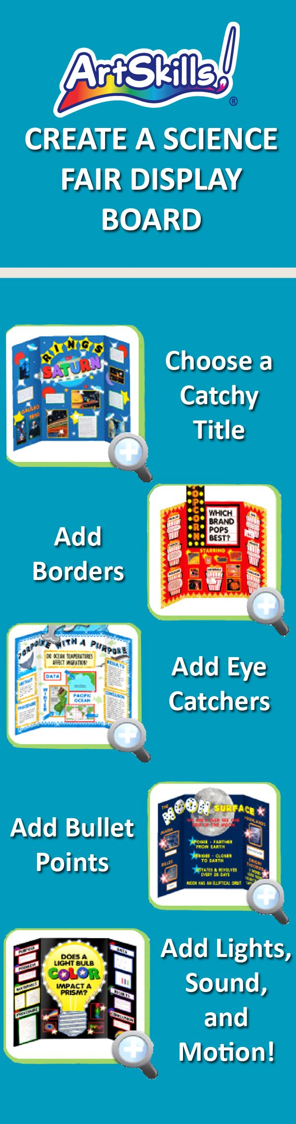 Poster design ideas for school projects - Science Fair Project Display Board How To