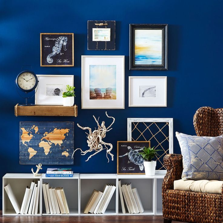 update your home decor with the catalina gallery wall collection - Blue Wall Decor