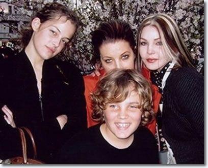 Riley Keough : Lisa Marie Presley : Priscilla Presley : Benjamin Keough, Grandson of Elvis Presley and Priscilla Presley.