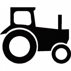 Tractor Silhouette for diy nursery art