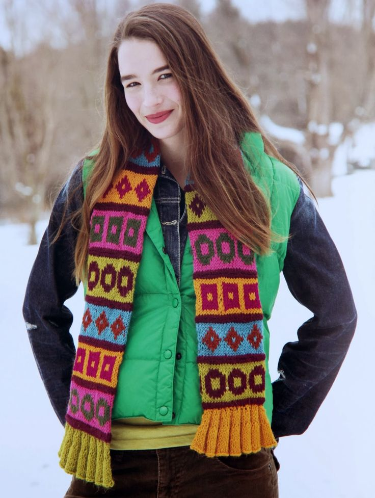 543 best Жаккардовые шарфы images on Pinterest | Knit patterns ...