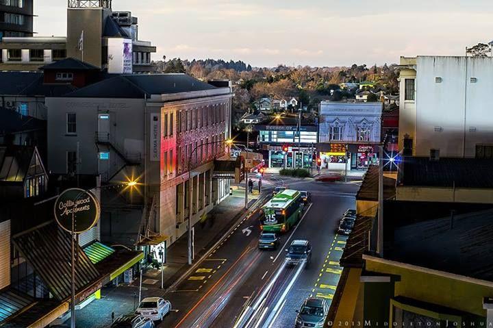 Hamilton, NZ, Collingwood Street, looking toward the main drag, Victoria Street. August 2013 (c) Joshua Middleton