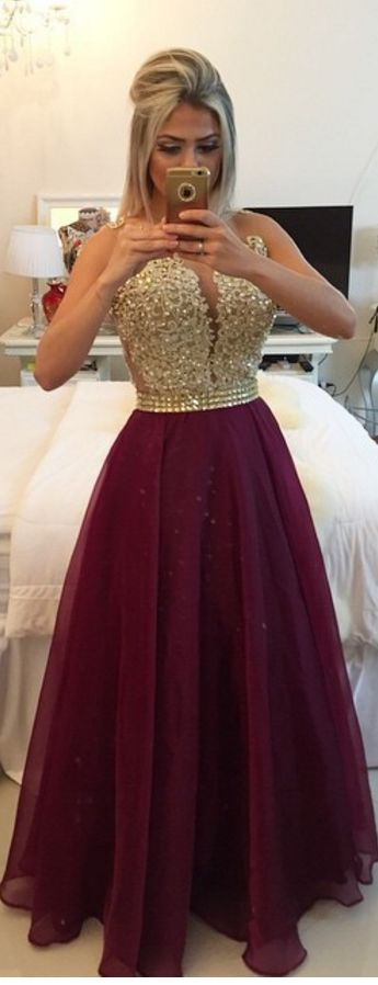 #burgundy #organza #prom #party #evening #dress #dresses #gowns #cocktaildress…