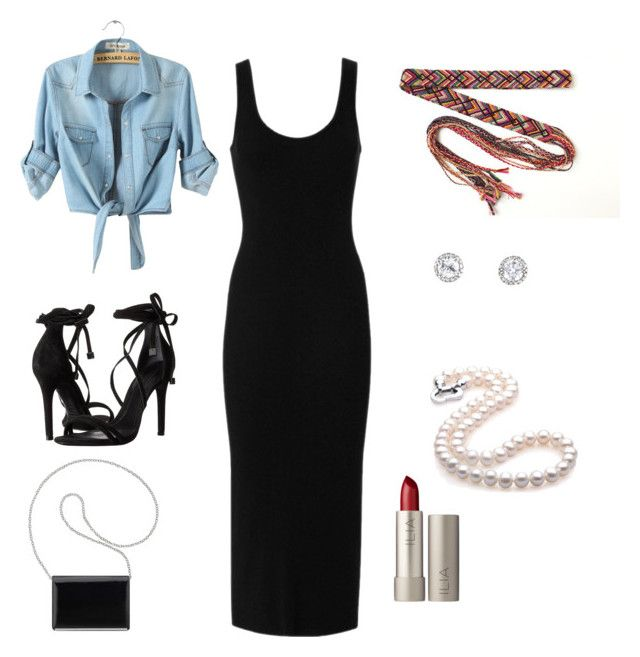 """""""my first date outfit"""" by cherralyn-ray on Polyvore featuring Enza Costa, Schutz, Nine West and Ilia"""