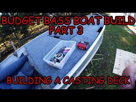 how to build a casting deck on a fiberglass boat