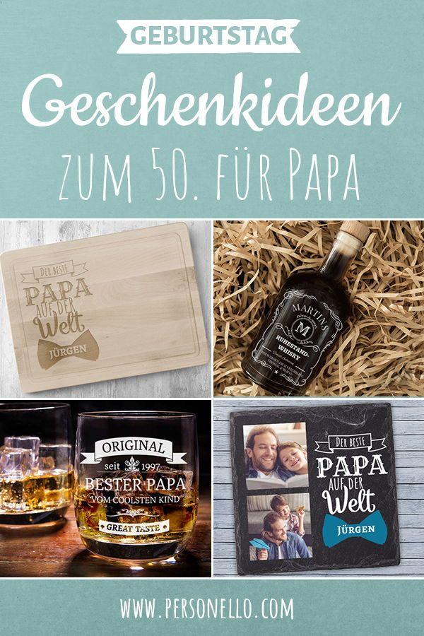 Einzigartiges Geburtstagsgeschenk Zum 50 Fur Papa Mit Deinem Text