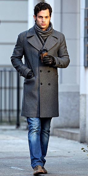 I like it when men wear actual overcoats. It gives immediate chicness to a guy. Sick of puffy jackets. Biddy Craft