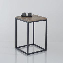 Bout de canapé métal et bois, H60 cm, Nottingham