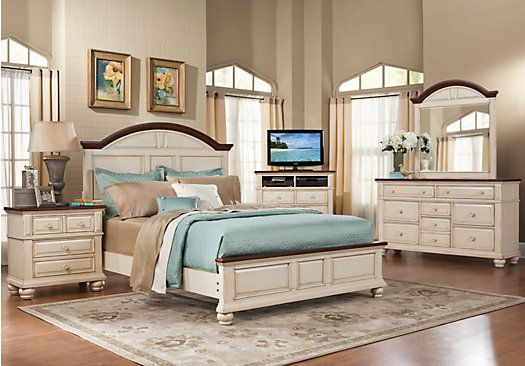 Bedroom Sets White shop for a berkshire lake white 7 pc king bedroom at rooms to go