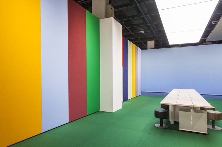The colour palette of the Kvadrat Soft Cells stand at Orgatec is inspired by Marni,