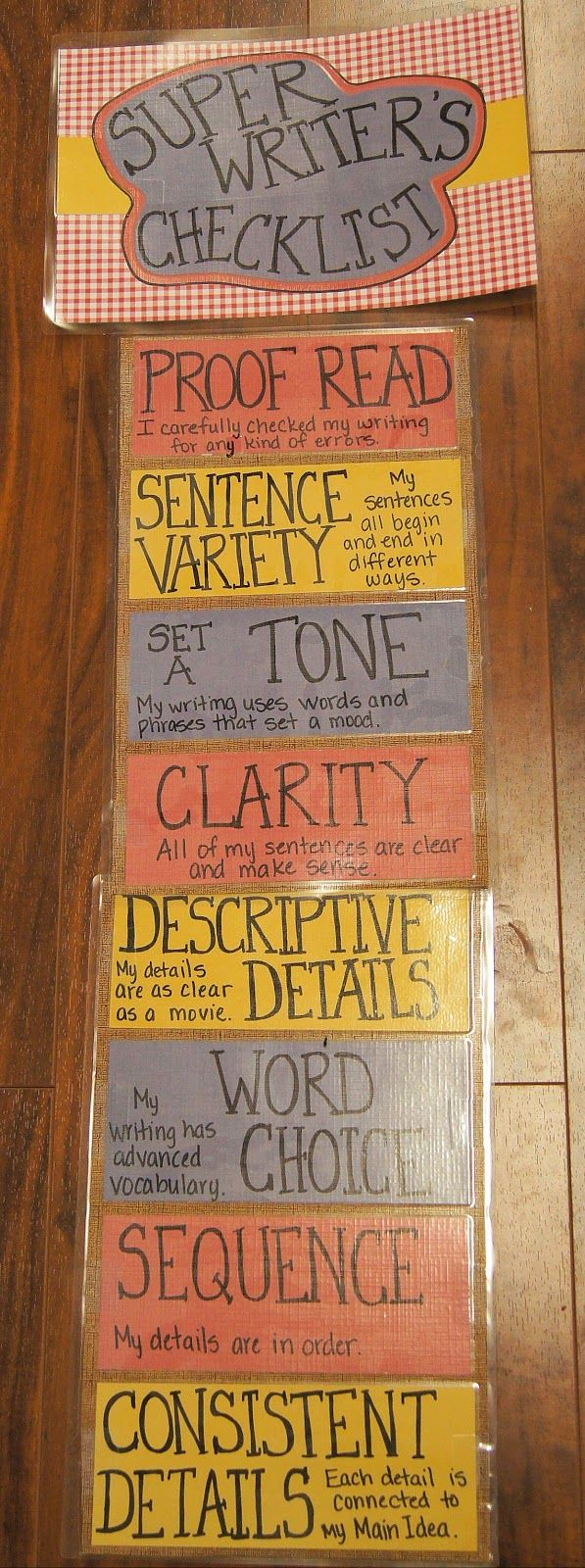 I love this Building Super Writers checklist! Students can make sure they are writing at their very best and that they followed each step. It's important that students include these elements in their writing at all times. (Image only)