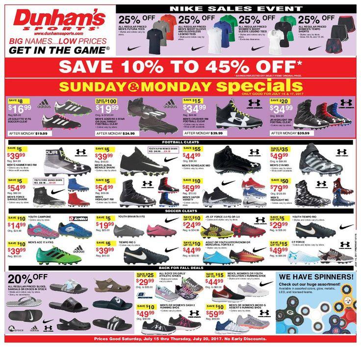 Dunham Sports Weekly Circular July 15 - 20, 2017 - http://www.olcatalog.com/dunhams-sports/dunham-sports.html