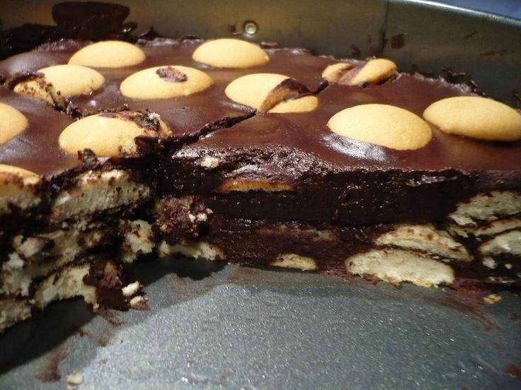 Nepečený kakaový dort