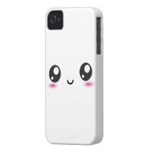 Protector para iPhone 4. Smiley Kawaii. http://www.zazzle.com/