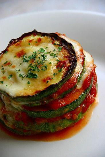 ズッキーニの重ね焼き : うちの食卓 Non solo italiano