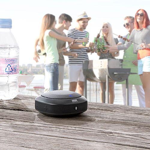 お風呂やキッチン周り、アウトドアでワイヤレスで音楽を楽しめるBluetoothスピーカー。防水規格のIPX5を取得した、Bluetooth 4.1の音楽・通話対応のワイヤレススピーカー。【WEB限定商品】