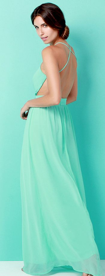 Mint perfection. Bridesmaid option? Work out those back muscles ladies!