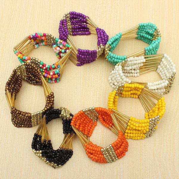 Multilayer Beaded Bracelet