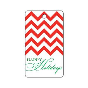 Holiday Red Chevron Gift Tag | MyRecipes.com