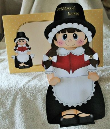 3D on the Shelf Card Kit - Little Welsh Girl Caryl - Photo by Pam Sperling