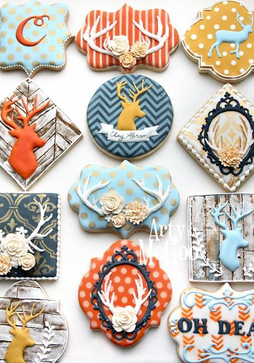 Arty McGoo -dear cookies  They're too pretty to eat ;)