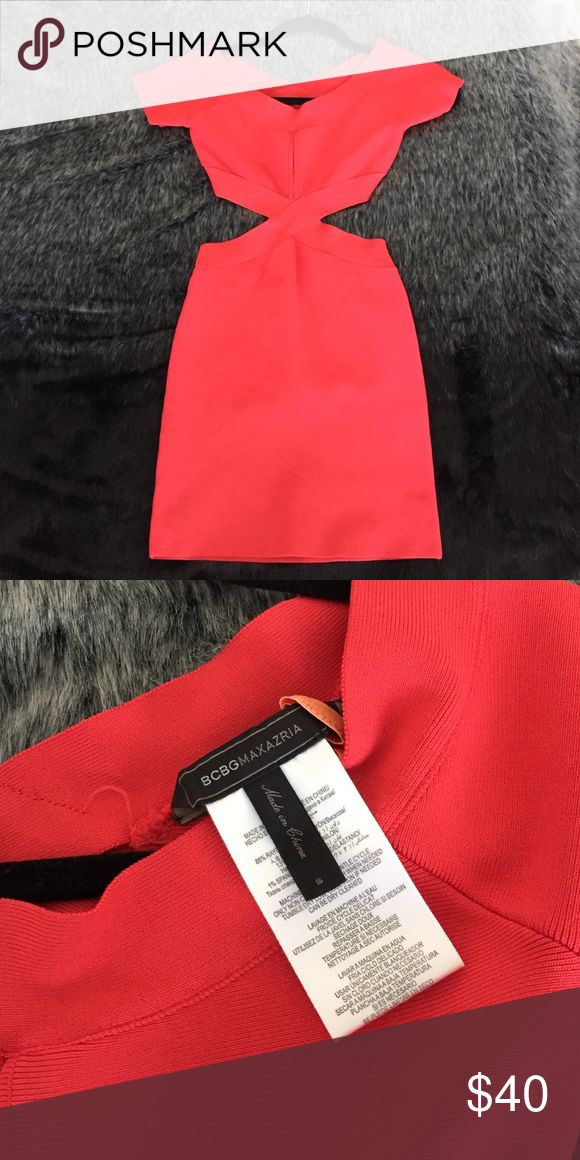 BCBG BODYCON MIDI Extremely sexy!! Birthday dress? Vegas dress? Both?! Dress has keyhole and side cutouts/ backless and is a definite showstopper! Excellent condition as always! It's very tight so no need for a bra, even those with a bigger cup size. BCBGMaxAzria Dresses Mini