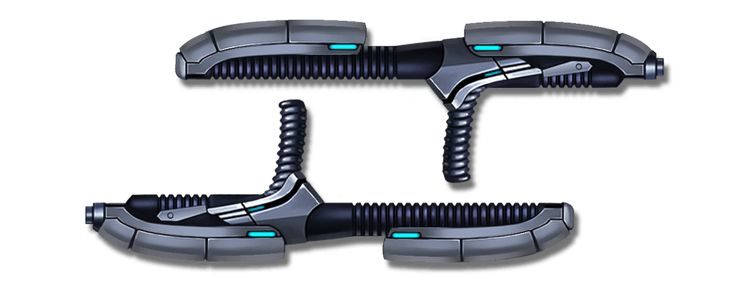 Blaster Tonfas is a super weapon unlocked at level 46 in Shadow Fight 2. It is the last weapon unlocked at the chapter one of Act VII: Revelation, along with Fretsaw. Blaster Tonfas shoots a pair of energy missiles as its super-slash. The missile works similar to Ranged Weapons, and has higher damage than most ranged weapons. The missile is not categorized as a weapon, ranged weapons, and magic. Thus, it doesn't follow any enchantments on these equipment. The mini-boss Cronos and May wiel...