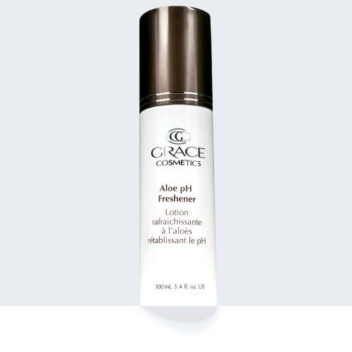 Aloe pH freshener.  Natural skin care regime cosmeceutical