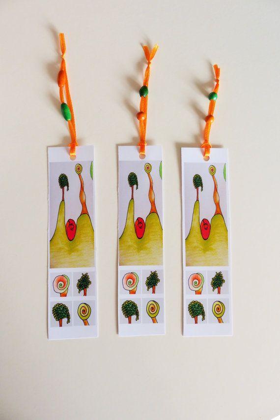 Set di tre segnalibri . Segnalibri su carta lucida . di RossoViola, €6.00