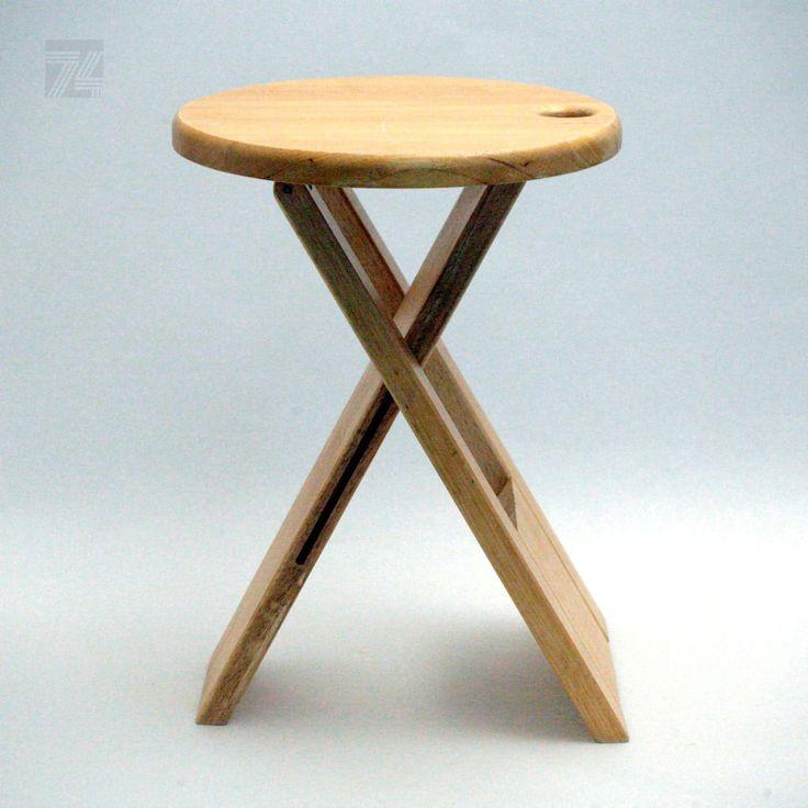Klapphocker aus Holz Design Roger Tallon - cyan74.com vintage and pop culture