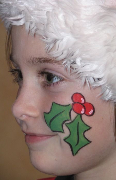 cheek face painting for kids | Christmas Face Painting