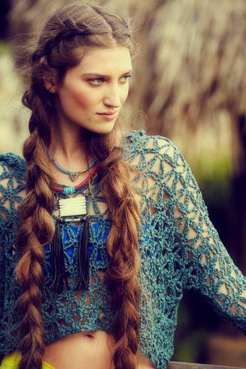 Old School Plait. 8 Popular Ponytail Hairstyles For Girls #hair #hairstyles