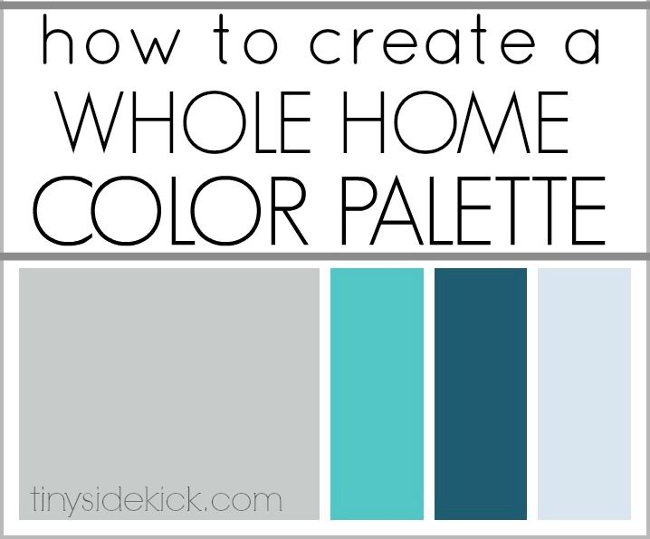 A whole home color palette isn't as intimidating as you might think and will make decorating choices easier.