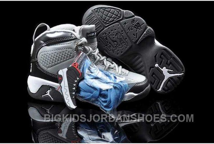 http://www.bigkidsjordanshoes.com/nike-air-jordan-9-kids-white-cool-grey-shoes-online.html NIKE AIR JORDAN 9 KIDS WHITE COOL GREY SHOES ONLINE Only $84.78 , Free Shipping!