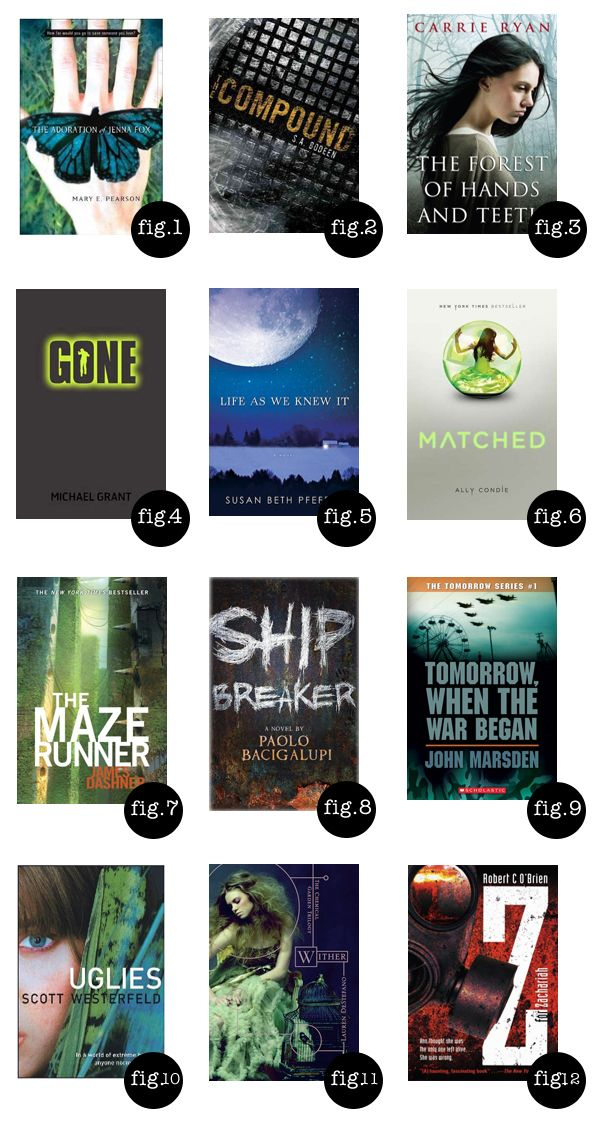 Good dystopian YA recommendations. 'Life as We Knew It' is probably the best of these (I've read about half of them). @Fiona Mason