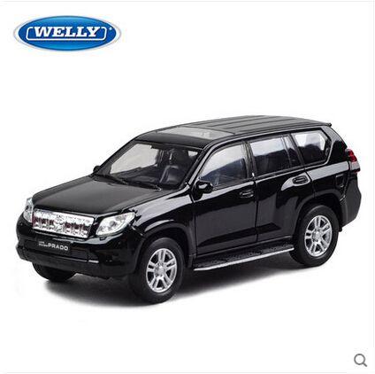 Toyota Prado welly 1:36 большой внедорожник Land Cruiser LC200 welly 1:36 моделирование сплава моделей автомобилей игрушечную машинку коуниверсален роскошные автомобили черный