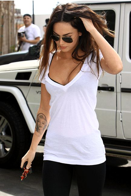 LnA Deep V Tee Shirt  in many colors - as seen on Megan Fox