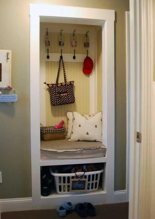 Closet Turned Mud Room
