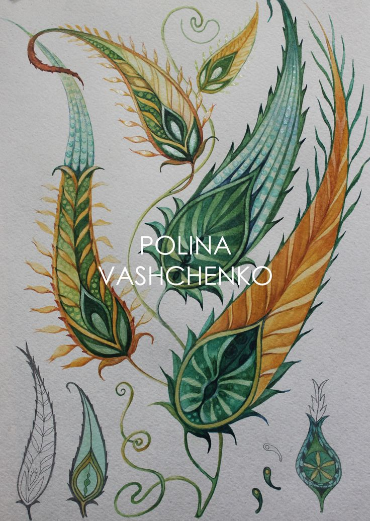 New collection of paisley by Polina Vashchenko Watercolor Artwork