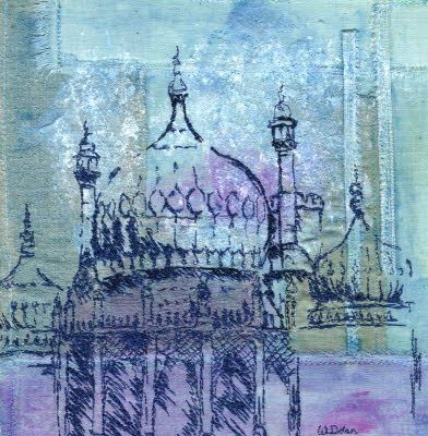 Architecture by Wendy Dolan. Beautiful embroidery work. Would love to do a course with her.